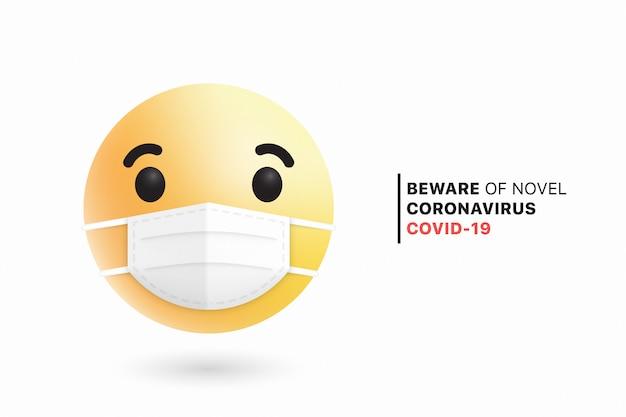 Social media emoji medical face chirurgische maske