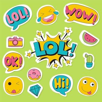 Social media emojis und aufkleber