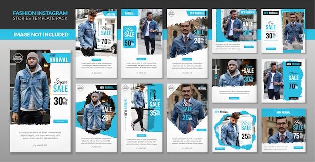Social media fashion insta story beitragsvorlagenpaket