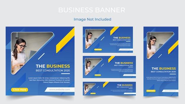 Social media-geschäfts-marketing-fahnendesign