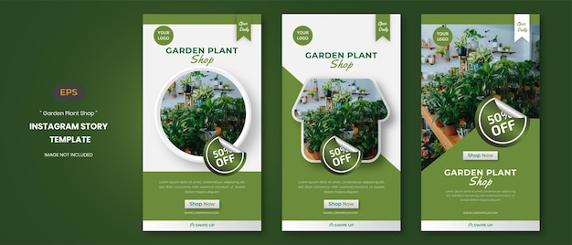 Social-media-geschichten von plant shop