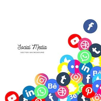 Social media-hintergrund