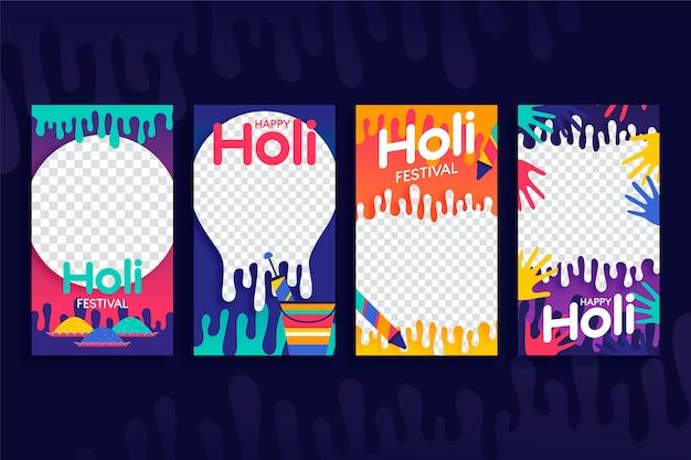 Social media holi festival mit transparentem hintergrund