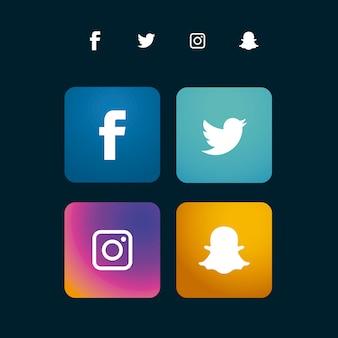 Social media icon sammlung