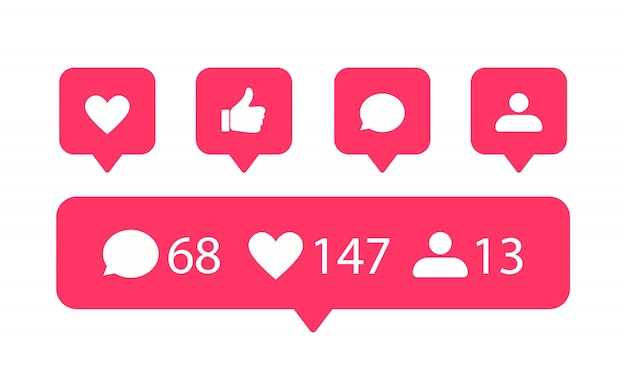 Social media icons eingestellt