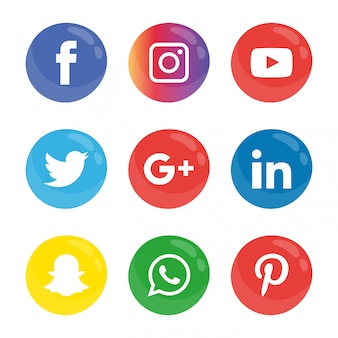 Social media-ikonen eingestellt.