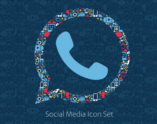 Social media-ikonen, netzwerk, computerkonzept.