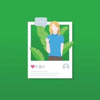 Social media-illustrationskonzept