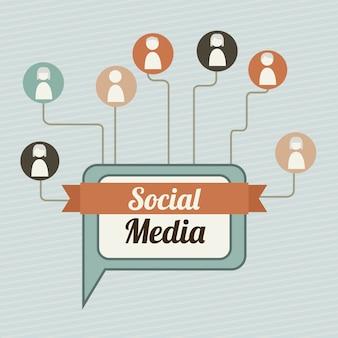 Social media illutration vintage stil vektor hintergrund