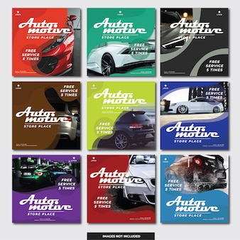 Social media instagram banner (auto automobil)