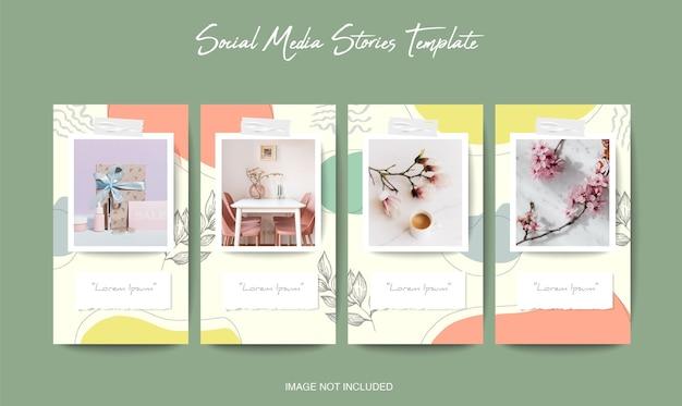 Social media instagram und facebook geschichten vorlage mit schönen hintergrund