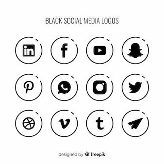 Social media-logo-sammlung