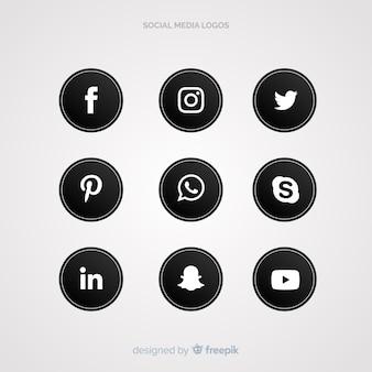 Social media-logosammlung