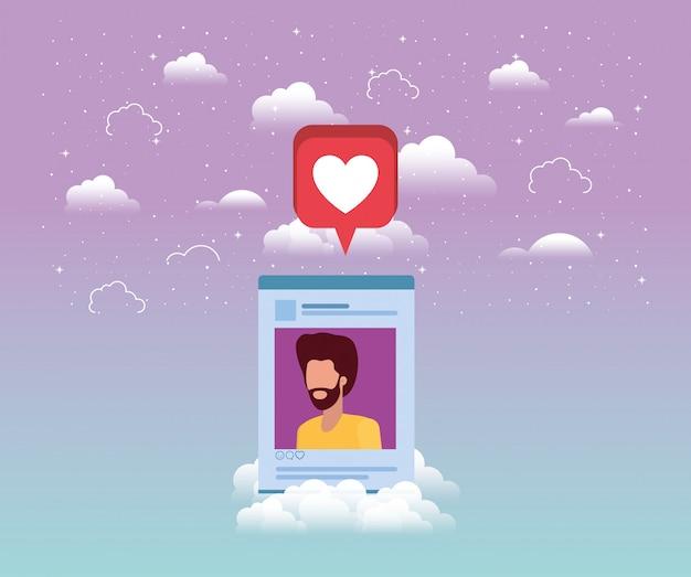 Social media man account vorlage