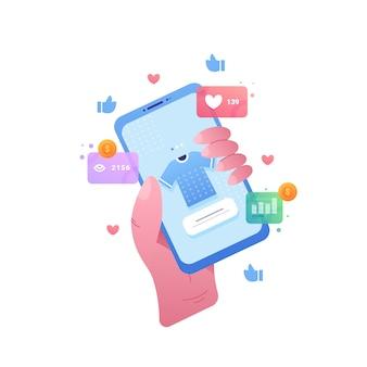 Social media-marketing-handykonzept