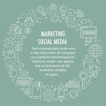 Social media marketing-kreisvorlage.