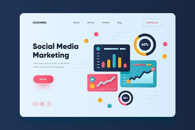 Social media marketing landing page vorlage