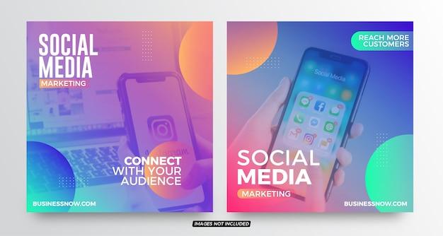 Social media marketing social media post vorlagen