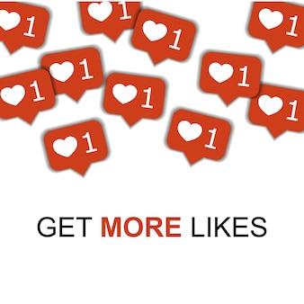 Social media mit herzen.
