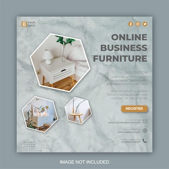 Social-media-möbel für facebook-cover-vorlage