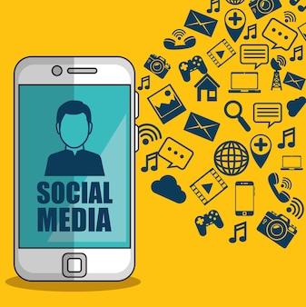 Social media netzwerk konzept vektor illustration grafik-design