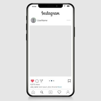 Social media netzwerk. mobile app mit fotos und story-kachel-vorlage. benutzerprofil, news, benachrichtigungen und post. illustrationsvorlage.
