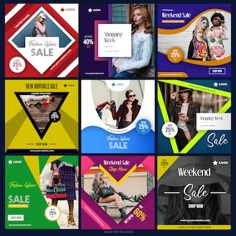 Social media-paket für digitales marketing