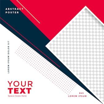 Social-media-post-banner-design im geometrischen stil