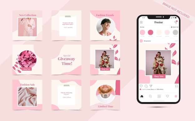 Social media post banner für instagram fashion sale promotion