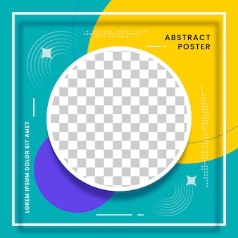 Social media post banner mit abstraktem design