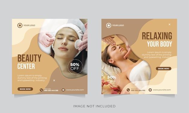 Social media post für beauty- und spa-werbung