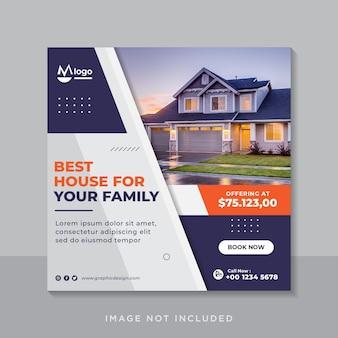Social media post für das immobiliengeschäft