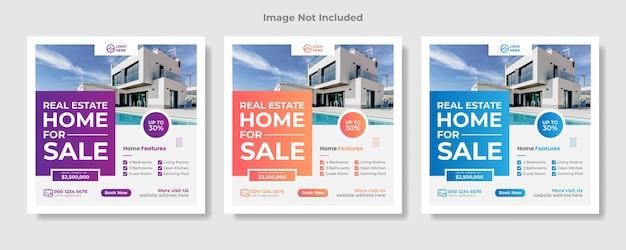 Social-media-post für immobilien oder quadratisches webbanner