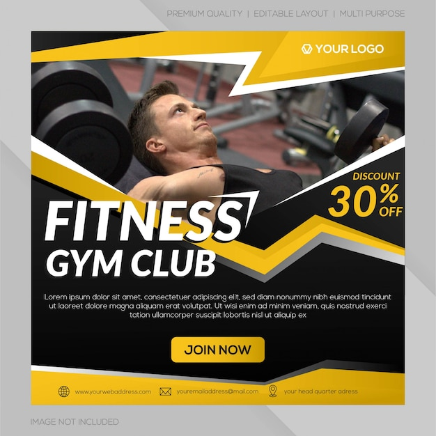 Social-media-post-gym-club-vorlage
