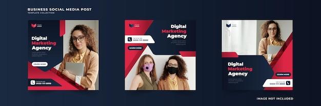 Social-media-post-template-sammlung für digitale marketingagenturen