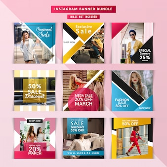 Social media post templatess