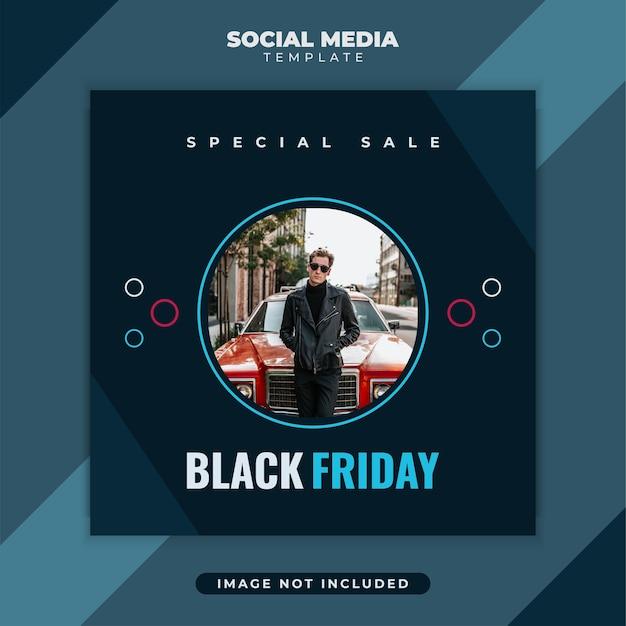 Social media post vorlage für black friday sale promotion mit kreativem konzept