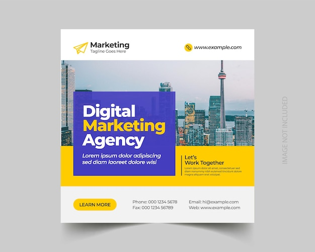Social-media-post-vorlage für digitales marketing für unternehmen