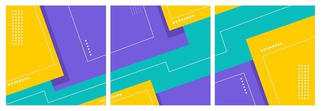 Social-media-post-vorlage mit geometrischem abstraktem hintergrund