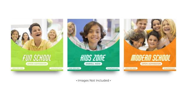 Social-media-post-vorlagen für den schuleintritt