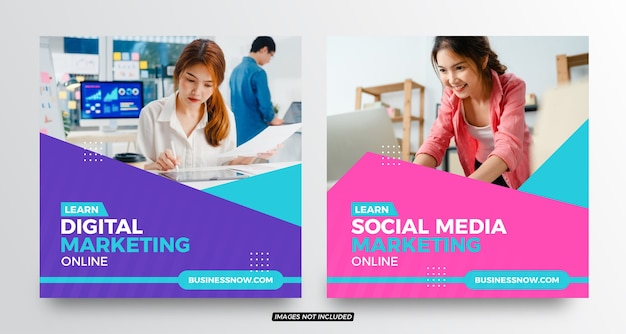 Social-media-post-vorlagen für digitales marketing