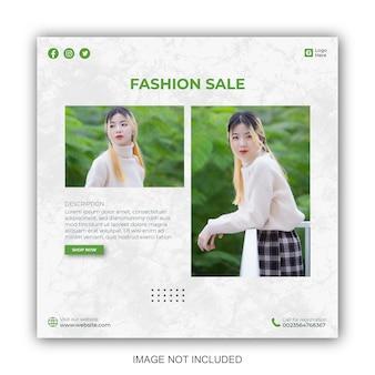Social-media-post-vorlagen für minimalistisches modegeschäft
