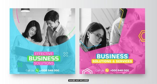 Social-media-post-vorlagen für unternehmenslösungen