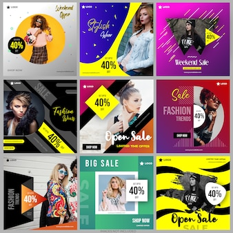 Social media post vorlagen sammlung