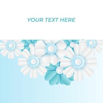 Social-media-postschablone mit frischer blauer blumendekoration des papierschnitts. moderne dynamische instagram-postvorlage
