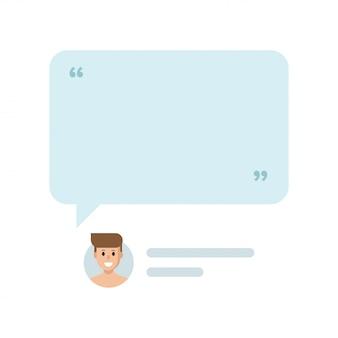 Social-media-profil des mannes und leerer block