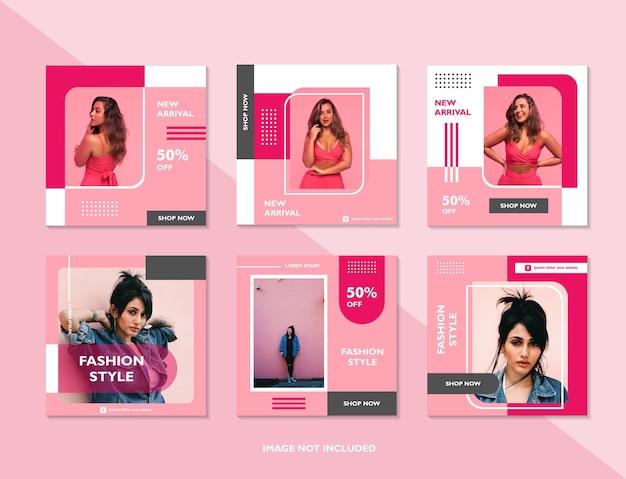 Social media promotion feed post und geschichten mode verkauf banner vorlage