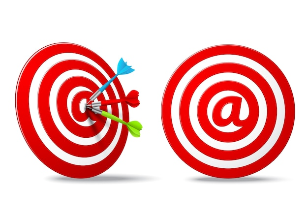 Social media red darts ziel ziel