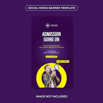 Social media schule aufnahme banner vorlage