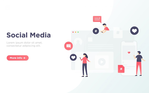 Social media-service-landing-page-illustration